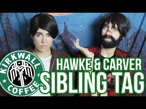 DA: Hawke & Carver - Sibling Tag (Kirkwall Coffee Short)