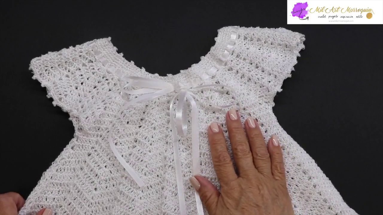 Vestido Crochet Zig Zag para Niña de 6 a 12 meses - YouTube d1e11d46cfa6