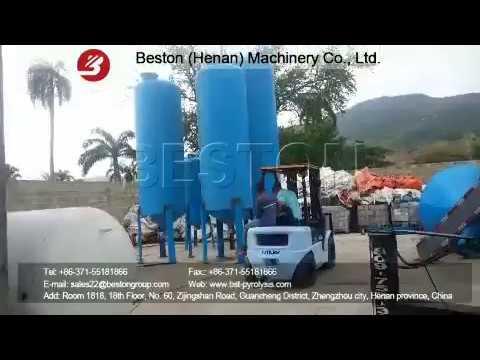 Beston Waste Plastic Pyrolysis Equipment Installed in Dominica
