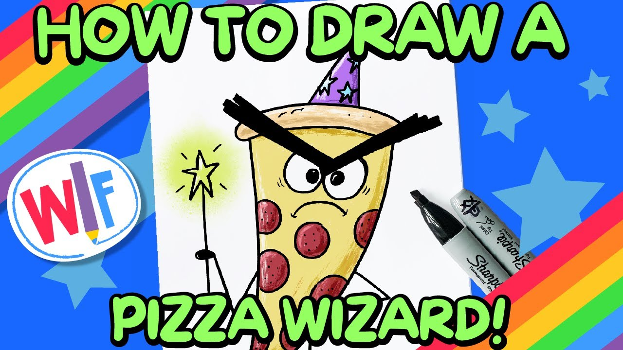 How To Draw A Pizza Wizard!