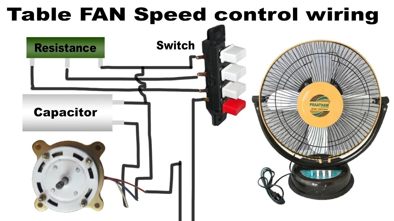 Table fan speed control wiring  YouTube