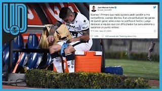 Juan Manuel Iturbe se disculpa con jugadores y cuerpo técnico de Pumas tras su berrinche