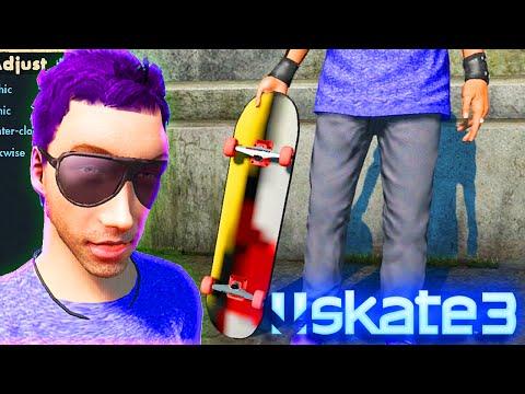 Grip Tape Glitch - X7 Albert NEW Skate 3 Skater