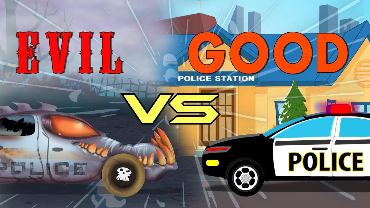 Police Cars Battle Good VS Evil