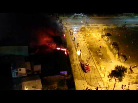 270314 :: Fire @ Little India Downtown MRT Line Construction Site