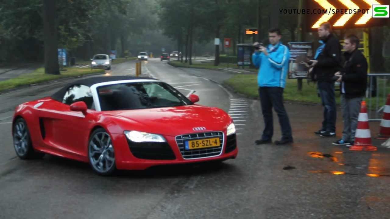 red audi r8 v10 spyder - youtube