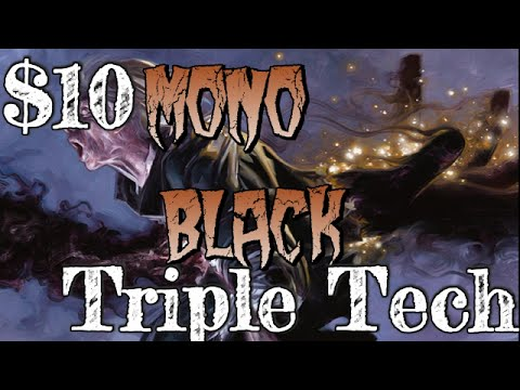 Mtg $10 Budget Deck Tech: Mono-Black Triple Tech (No Theros/M15)!