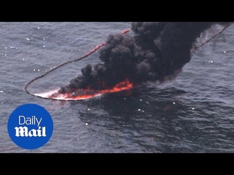 Aerials of long-term effects of Gulf of Mexico BP Oil Spill - Daily Mail