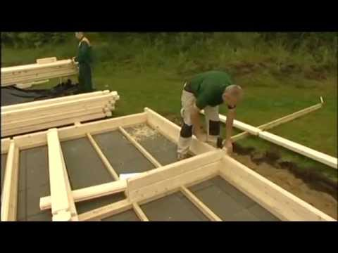 Montage Maison bois en kit - Autoconstruction - YouTube