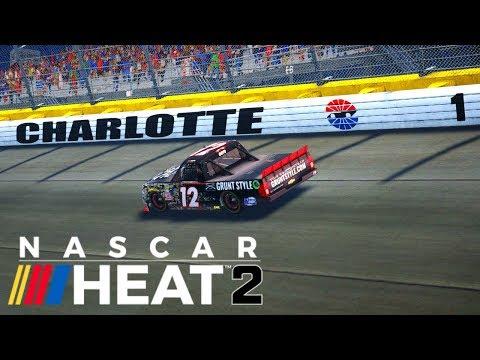NASCAR Heat 2 | Career Mode Ep 2 | Charlotte Motor Speedway | NASCAR Video Game  | Cockpit View | PC