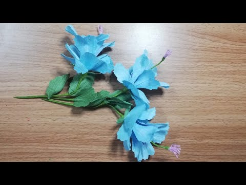DIY | Crepe Paper Flower | How To Make Flower Step By Step From Crepe Paper | DIY-Beauty Of Paper