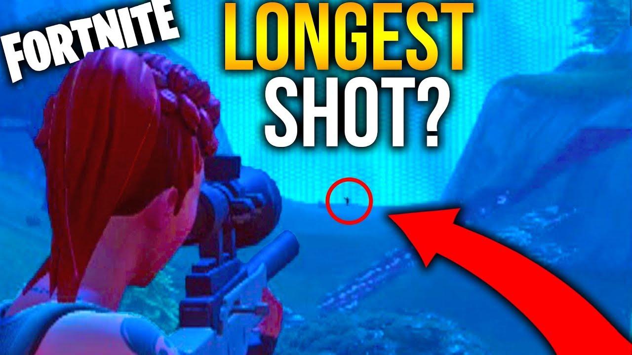 Longest Sniper Shot Fortnite Battle Royale Youtube