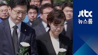 """김경수, 봉하서 첫 일정 """"수사 흘리지 말고 날 조사하라"""""""