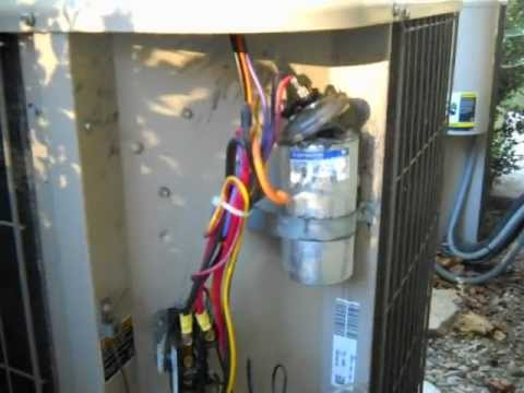 Ac Condenser Capacitor Wiring Diagram Exploded Dual Capacitor In A 4 Ton Condensing Unit