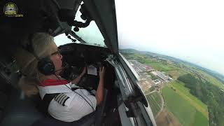 Captain Sandra's LAST EVER Helvetic Pax-Flight Takeoff of a Swiss Fokker F100 [AirClips]