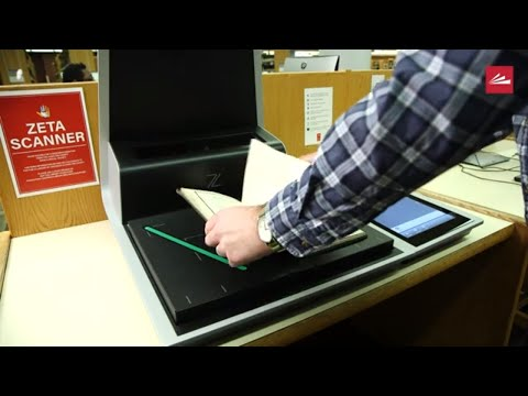 New Zeta Book Scanner Available At The Downtown Main Library!