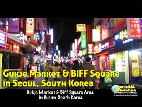 Gukje Market & Biff Square Area in Busan, South Korea | Don's ESL Adventure!