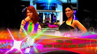 WWE 13 - Daphne Blake vs Lara Croft - [Steel Cage Match]