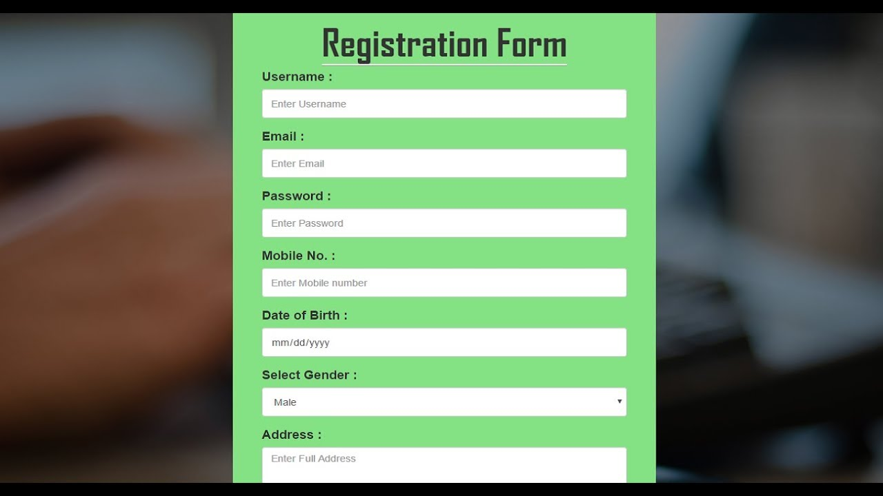 Bootstrap registration form in hindihow to create responsive bootstrap registration form in hindihow to create responsive registration signup form html5 css3 falaconquin