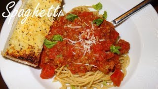 Easy Spaghetti with Meat Sauce - How to make spaghetti