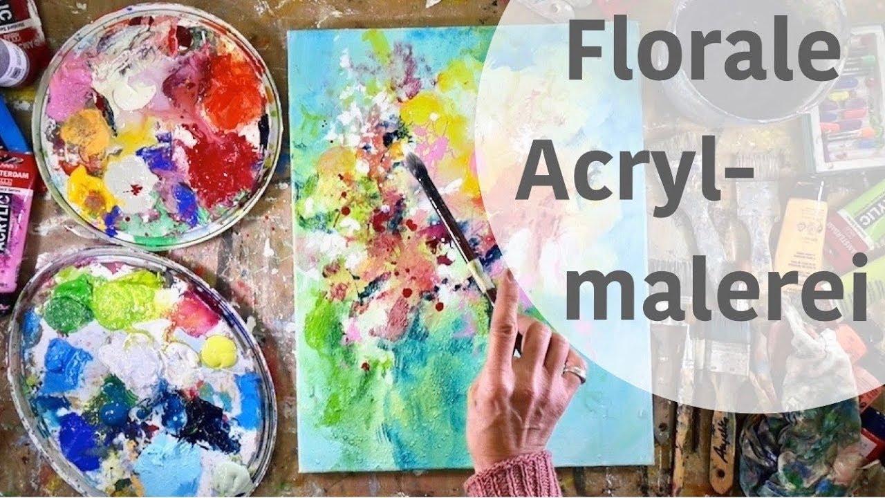 Farbenfrohe Florale Acrylmalerei Ganz Einfach Malen Lernen 3