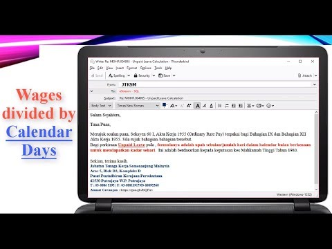 Unpaid Leave Calculation By Calendar Days Youtube