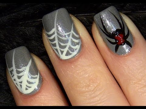 Black Widow Spider Nails For