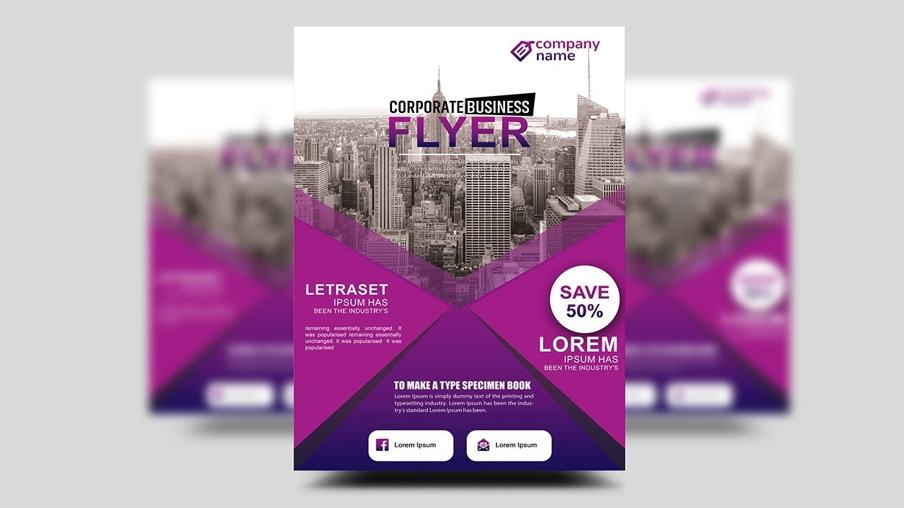 Professional Corporate Flyer | Professional Corporate Flyer Photoshop Tutorials Youtube
