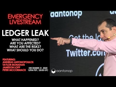 Help! Ledger Hack.What is it? What should you do right now to protect youself? Emergency Livestream