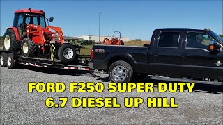 Ford F250 6.7 Powerstroke Diesel FIRST TOWING MISSION 10k Steep hills & more