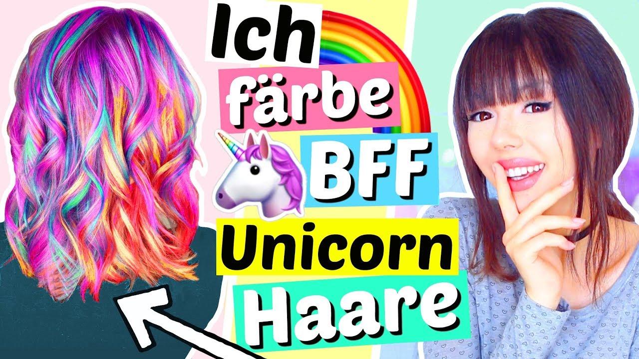 ich färbe BFF Unicorn Haare!! ????????   ViktoriaSarina