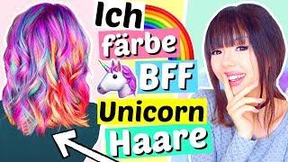 ich färbe BFF Unicorn Haare!! 🌈🦄 | ViktoriaSarina