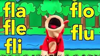 sílabas fla fle fli flo flu el mono sílabo canciones infantiles