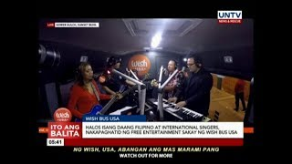 Halos 100 Filipino, international singers, nakapaghatid ng free entertainment sakay ng Wish Bus USA