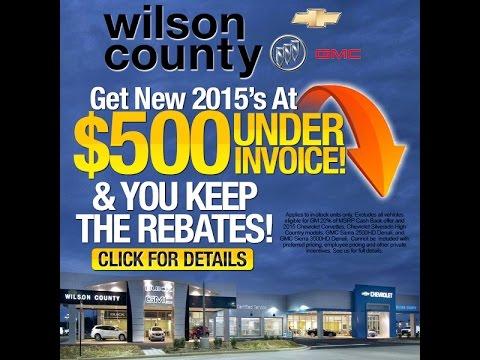 Wilson County Chevrolet Buick GMC Models Below Invoice - Below invoice