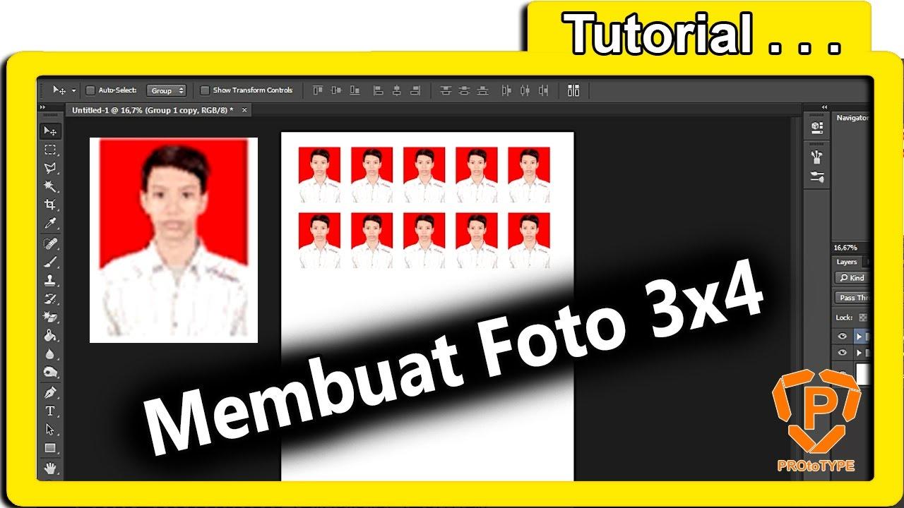 Cara Edit Foto 3x4 4x6 Photoshop Cc Cap Media Youtube