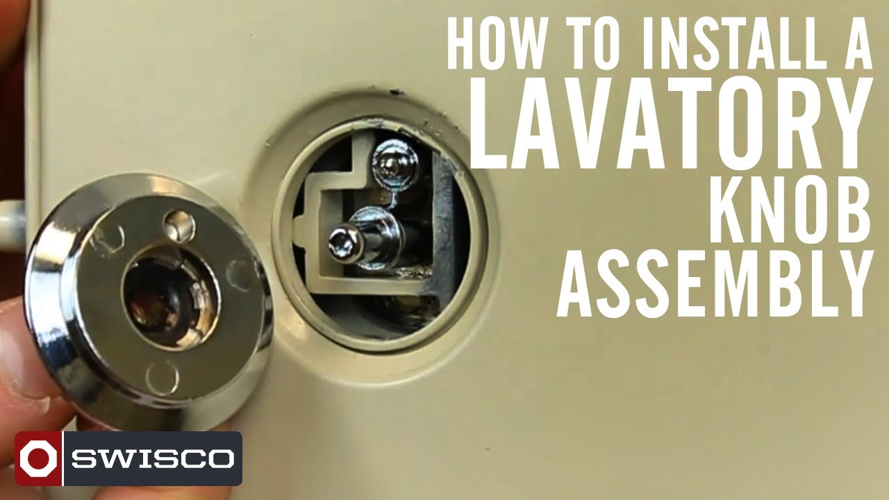 How to install the 10 556 lavatory knob assembly youtube - Installing a lock on a bedroom door ...
