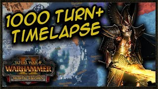 AI ONLY Mortal Empires 1000 Turn+ Campaign Timelapse - Total War: Warhammer 2