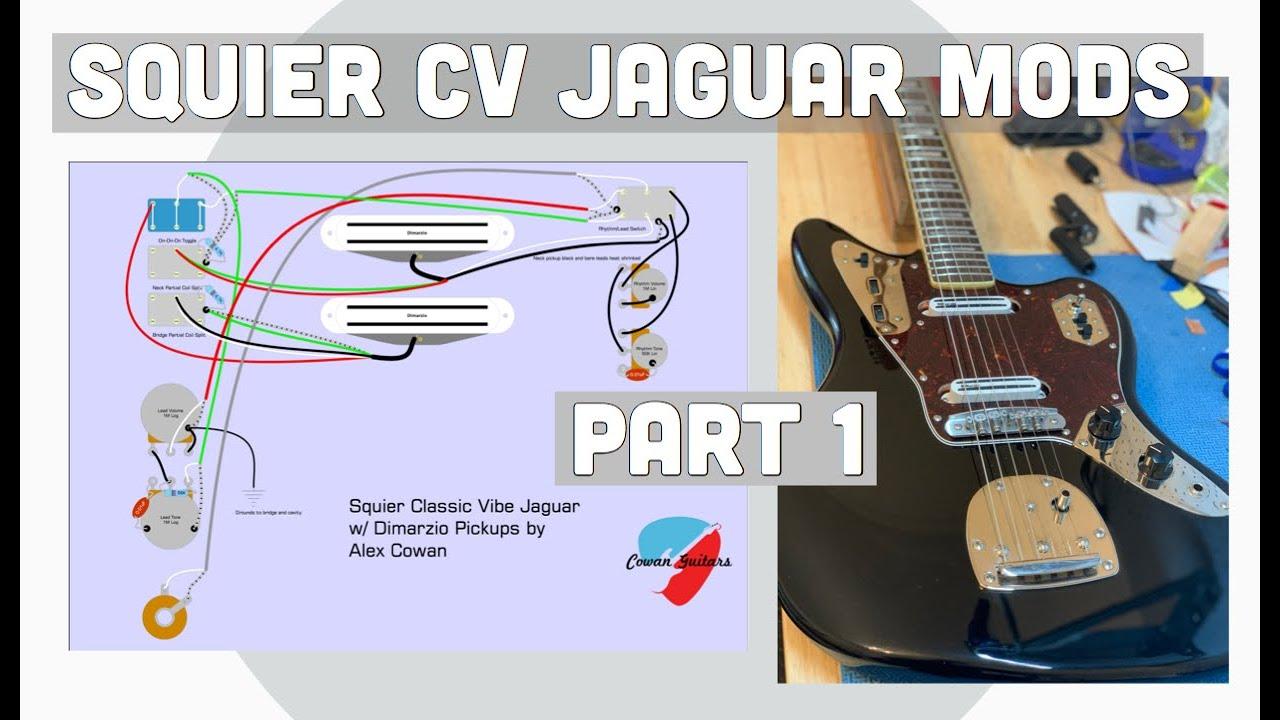 Squier Classic Vibe Jaguar Mods Part 1: Mods and Setup - YouTubeYouTube