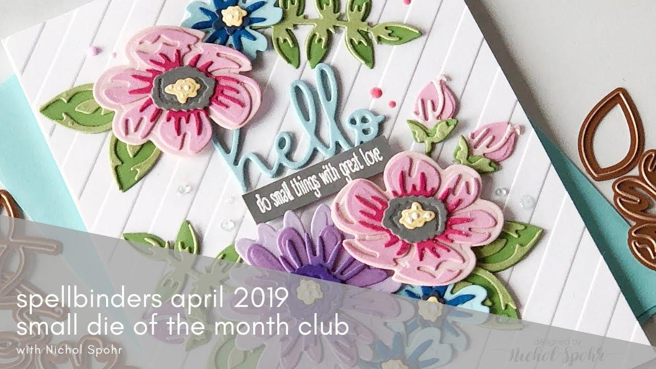 Spellbinders Small Die of the Month April 2019