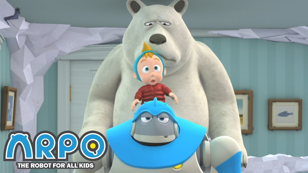 FROZEN POLAR BEAR | Cartoons for Kids | Full Episode | Arpo the Robot