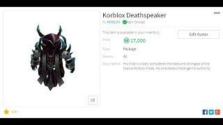 BUYING KORBLOX DEATHSPEAKER ON ROBLOX!!