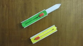 How to Make a Paper Hitcher Knife - Easy paper switch knife Tutorials