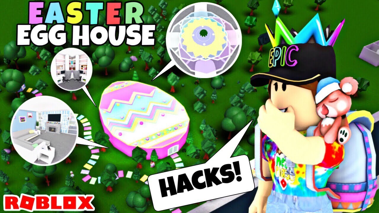 I Made An Easter Egg House Using Building Hacks Roblox Bloxburg
