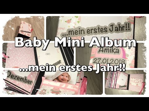 """Mini Album Baby Girl """"First Year"""" Scrapbook, Babys erstes Jahr, watch me craft, Craftupdate, DIY"""