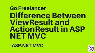Difference Between ViewResult and ActionResult in ASP NET MVC