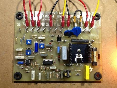 Repair of old AVR (Automatic Voltage Regulator) PCB.
