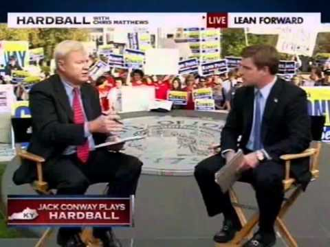 Chris Matthews Nearly Makes Jack Conway Cry