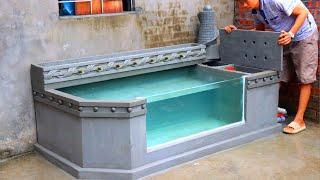 Designer Outdoor Water Fountain - Aquarium with Cement and Brick