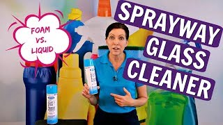 Sprayway Glass Cleaner Product Review - FOAM VS. SPRAY?